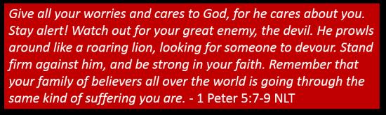 1 Peter 5 7,9