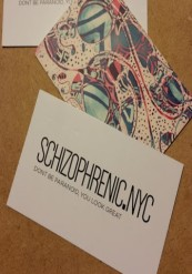 Schizophrenia business cards