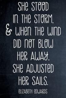 Adjust her sails
